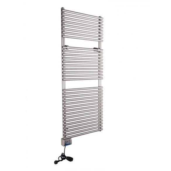 iVigo energiatakarékos fűtőtest, törölközőszárító 800 watt (EHR 5033) Inox