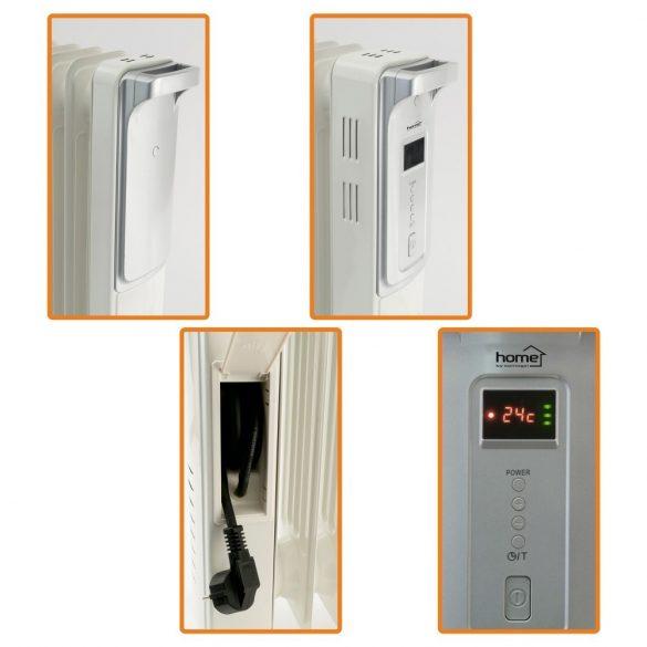 Home FKO 9 LCD Olajradiátor, digitális, 9 tag 2000 W