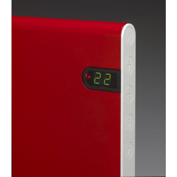 ADAX NEO NP piros 04 KDT - 400 W energiatakarékos radiátor, elektromos fűtőpanel Digitális termosztáttal + ajándék mérőszalag 5 év teljes körű garanciával