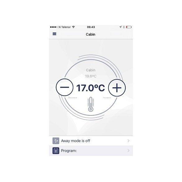 ADAX CLEA H 04 KWT - 400 W Fehér WIFI energiatakarékos radiátor, elektromos fűtőpanel Wifi termosztáttal + ajándék mérőszalag 5 év teljes körű garanciával